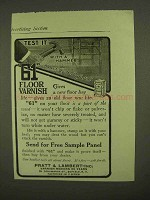 1909 Pratt & Lambert 61 Floor Varnish Ad - Test It