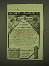 1909 Daggett & Ramsdell's Perfect Cold Cream Ad