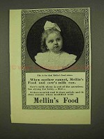 1909 Mellin's Food Ad - When Mother Cannot