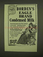 1909 Borden's Eagle Brand Condensed Milk Ad