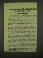 1909 Postum Drink Ad - Good Change Coffee to Postum