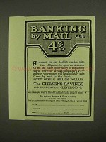 1909 The Citizens Savings and Trust Company Ad