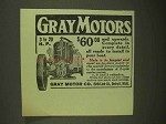 1909 Gray Motor Ad - Complete in Every Detail