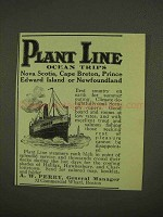 1909 Plant Line Cruise Ad - Ocean Trips