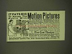 1909 Amusement Supply Co. Ad - Motion Pictures