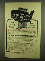 1908 New International Encyclopedia Ad - Wanted