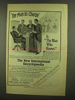 1908 New International Encyclopedia Ad - Man In Charge