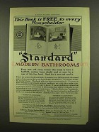 1908 Standard Modern Bathrooms Ad
