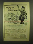 1908 National Lead Co. Ad - Before Painter Begins Work