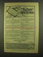 1908 Gillette Safety Razor Blades Ad - New Process