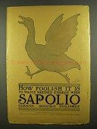 1908 Sapolio Soap Ad - How Foolish To Waste Energy