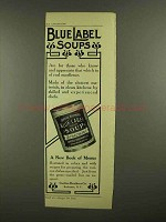 1908 Curtice Brothers Blue Label Soup Ad