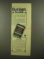 1908 Curtice Brothers Blue Label Soup Ad - Twenty Kinds
