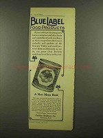 1908 Curtice Brothers Blue Label White Cherries Ad