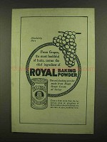 1908 Royal Baking Powder Ad - From Grapes