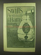 1908 Swift's Premium Ham Ad - Surpassing Quality