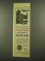 1908 Kodak 3A Folding Pocket Kodak Camera Ad