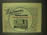 1908 Whitman's Super Extra Chocolates & Confections Ad - NICE!
