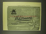 1908 Whitman's Super Extra Chocolates & Confections Ad