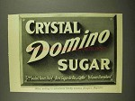 1908 Crystal Domino Sugar Ad