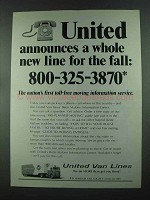 1972 United Van Lines Ad - A Whole New Line