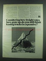 1972 Ryder Truck Rental Ad - Freight Rates Gone Up