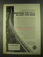 1972 Santa Fe Railroad Ad - Bridging the U.S.A.