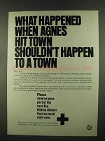 1972 American National Red Cross Flood Relief Ad, Agnes