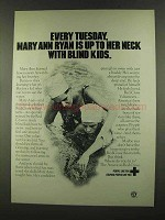 1972 The American Red Cross Ad - With Blind Kids
