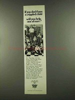 1972 Easter Seals Ad - Don't Have a Crippled Child