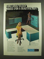 1972 Lyon Office Furniture Ad - Functional Design