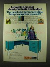 1972 Lyon Office Furniture Ad - Taste and Budget