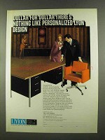 1972 Lyon Office Furniture Ad - Dollar for Dollar