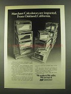 1972 SCM Marchant Calculators Ad - Oakland, California