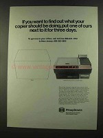 1972 Pitney-Bowes Copier Ad - Want to Find Out
