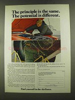 1972 U.S. Air Force Ad - The Principle is the Same