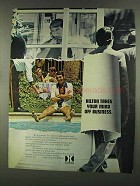 1972 Hilton Hotels Ad - Takes Your Mind off Business