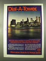1972 Sheraton Hotels & Motor Inns Ad - Dial-A-Tower