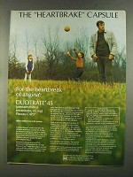 1972 Marion Laboratories Duotrate 45 Ad - Heartbrake