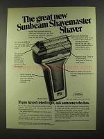 1972 Sunbeam Model SM 7 Shavemaster Shaver Ad