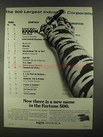 1972 Exxon Corporation Ad - New Name in Fortune 500