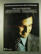 1972 Gant Shirts Ad - The Button Down Shirt