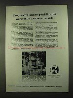 1972 Warner & Swasey Vertical Boring Mill Ad
