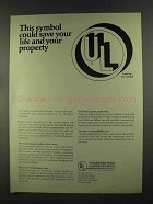 1972 Underwriters' Laboratories Ad - This Symbol