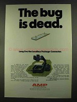 1972 AMP Leadless Package Connector Ad - Bug is Dead