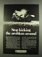 1972 Caterpillar Tractor Co. Ad - Stop Kicking