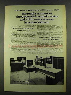 Remarkable 1972 Burroughs 4700 3700 And 2700 Computer Systems Ad Machost Co Dining Chair Design Ideas Machostcouk