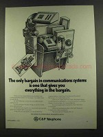 1972 C&P Telephone Ad - Bargain in Communications