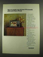 1972 Sony Trinitron Television Ad - Your TV Console