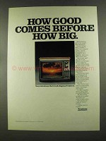 1972 Sony Trinitron Television Ad - Good Before Big